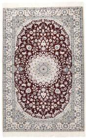 Nain 9La Matto 133X199 Itämainen Käsinsolmittu Tummanruskea/Musta (Villa/Silkki, Persia/Iran)