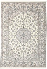Nain 9La Matto 250X348 Itämainen Käsinsolmittu Tummanharmaa/Vaaleanharmaa Isot (Villa/Silkki, Persia/Iran)