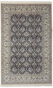 Nain 9La Matto 198X312 Itämainen Käsinsolmittu Tummanharmaa/Musta (Villa/Silkki, Persia/Iran)
