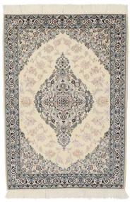 Nain 9La Matto 100X146 Itämainen Käsinsolmittu Tummanharmaa/Vaaleanruskea (Villa/Silkki, Persia/Iran)