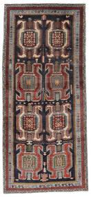 Ardebil Matto 134X298 Itämainen Käsinsolmittu Käytävämatto Musta/Tummanruskea (Villa, Persia/Iran)