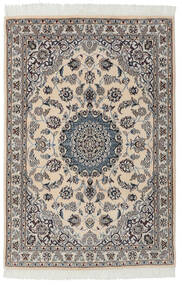 Nain 9La Matto 99X149 Itämainen Käsinsolmittu Musta/Tummanharmaa (Villa/Silkki, Persia/Iran)