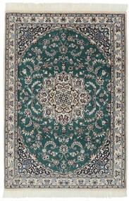 Nain 9La Matto 94X140 Itämainen Käsinsolmittu Musta/Tummanharmaa (Villa/Silkki, Persia/Iran)