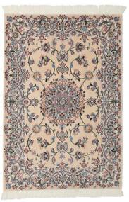 Nain 9La Matto 99X145 Itämainen Käsinsolmittu Vaaleanruskea/Musta (Villa/Silkki, Persia/Iran)
