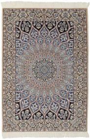 Nain 9La Matto 95X146 Itämainen Käsinsolmittu Musta/Tummanruskea (Villa/Silkki, Persia/Iran)