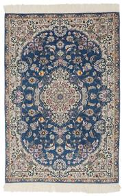 Nain 9La Matto 100X150 Itämainen Käsinsolmittu Musta/Tummanharmaa (Villa/Silkki, Persia/Iran)