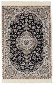 Nain 9La Matto 103X153 Itämainen Käsinsolmittu Musta/Tummanharmaa (Villa/Silkki, Persia/Iran)