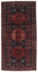 Hamadan Matto 148X294 Itämainen Käsinsolmittu Käytävämatto Musta/Tummanruskea (Villa, Persia/Iran)