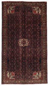 Hosseinabad Matto 159X288 Itämainen Käsinsolmittu Käytävämatto Musta/Tummanruskea (Villa, Persia/Iran)