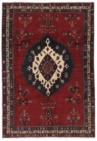 Afshar Matto 179X261 Itämainen Käsinsolmittu Musta (Villa, Persia/Iran)