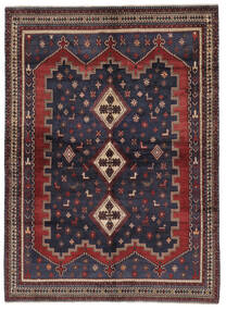Afshar Matto 167X230 Itämainen Käsinsolmittu Musta/Tummanruskea (Villa, Persia/Iran)