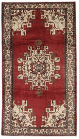 Hamadan Matto 185X330 Itämainen Käsinsolmittu Tummanruskea/Musta (Villa, Persia/Iran)