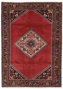 Hamadan Matto 119X168 Itämainen Käsinsolmittu Musta/Tummanpunainen/Tummanruskea (Villa, Persia/Iran)