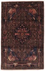 Hamadan Matto 102X164 Itämainen Käsinsolmittu Musta/Tummanruskea (Villa, Persia/Iran)