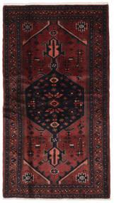 Hamadan Matto 108X193 Itämainen Käsinsolmittu Musta/Tummanruskea (Villa, Persia/Iran)