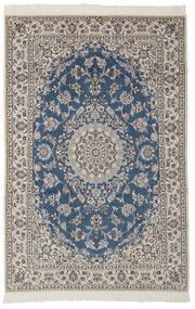 Nain 9La Matto 130X198 Itämainen Käsinsolmittu Musta/Tummanharmaa/Vaaleanharmaa (Villa/Silkki, Persia/Iran)