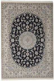 Nain 9La Matto 252X360 Itämainen Käsinsolmittu Tummanharmaa/Musta Isot (Villa/Silkki, Persia/Iran)