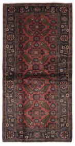 Hamadan Matto 106X213 Itämainen Käsinsolmittu Musta/Tummanruskea (Villa, Persia/Iran)
