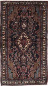 Hamadan Matto 113X200 Itämainen Käsinsolmittu Musta/Tummanruskea (Villa, Persia/Iran)