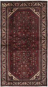 Hamadan Matto 108X198 Itämainen Käsinsolmittu Musta/Tummanruskea (Villa, Persia/Iran)