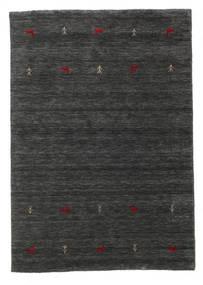 Gabbeh Loom Two Lines - Toissijainen Matto 140X200 Moderni Musta/Beige (Villa, Intia)
