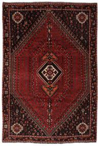 Shiraz Matto 206X298 Itämainen Käsinsolmittu Musta (Villa, Persia/Iran)