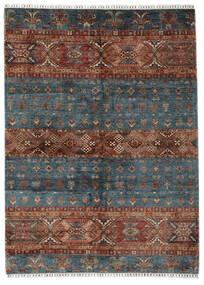 Shabargan Matto 180X247 Moderni Käsinsolmittu Musta/Tummanruskea (Villa, Afganistan)