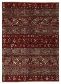 Shabargan Matto 183X248 Moderni Käsinsolmittu Musta/Tummanruskea (Villa, Afganistan)