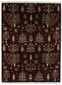 Shabargan Matto 176X236 Moderni Käsinsolmittu Musta/Tummanruskea (Villa, Afganistan)