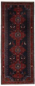 Hamadan Matto 157X390 Itämainen Käsinsolmittu Käytävämatto Musta (Villa, Persia/Iran)
