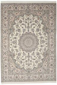 Nain 9La Matto 245X349 Itämainen Käsinsolmittu Tummanharmaa/Vaaleanharmaa (Villa/Silkki, Persia/Iran)