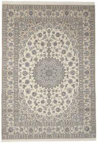 Nain 9La Matto 256X356 Itämainen Käsinsolmittu Tummanharmaa/Oliivinvihreä Isot (Villa/Silkki, Persia/Iran)