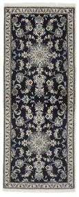 Nain Matto 78X197 Itämainen Käsinsolmittu Käytävämatto Musta/Beige (Villa, Persia/Iran)