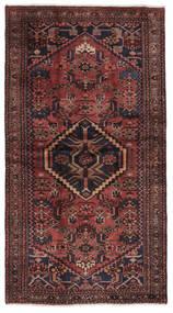 Hamadan Matto 115X210 Itämainen Käsinsolmittu Musta/Tummanruskea (Villa, Persia/Iran)