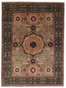 Mamlouk Matto 154X206 Moderni Käsinsolmittu Tummanruskea/Musta (Villa, Afganistan)