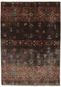 Shabargan Matto 127X186 Moderni Käsinsolmittu Musta/Tummanruskea (Villa, Afganistan)