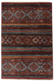 Shabargan Matto 87X129 Moderni Käsinsolmittu Musta/Tummanruskea (Villa, Afganistan)