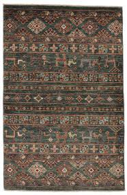 Shabargan Matto 89X135 Moderni Käsinsolmittu Musta/Tummanruskea (Villa, Afganistan)