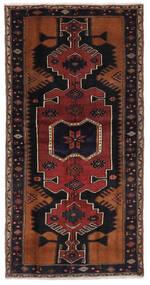 Hamadan Matto 103X204 Itämainen Käsinsolmittu Musta/Tummanruskea (Villa, Persia/Iran)