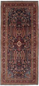 Mahal Matto 133X300 Itämainen Käsinsolmittu Käytävämatto Musta/Tummanruskea (Villa, Persia/Iran)