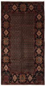 Hamadan Matto 155X300 Itämainen Käsinsolmittu Käytävämatto Musta (Villa, Persia/Iran)