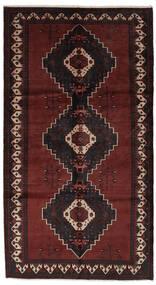 Hamadan Matto 154X288 Itämainen Käsinsolmittu Käytävämatto Musta (Villa, Persia/Iran)