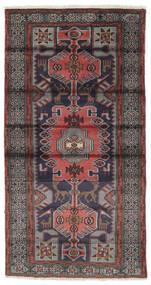 Hamadan Matto 106X196 Itämainen Käsinsolmittu Musta/Tummanruskea (Villa, Persia/Iran)