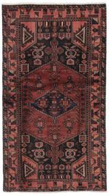 Hamadan Matto 101X186 Itämainen Käsinsolmittu Musta/Tummanruskea (Villa, Persia/Iran)