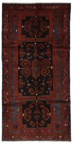 Hamadan Matto 145X290 Itämainen Käsinsolmittu Käytävämatto Musta (Villa, Persia/Iran)