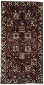Bakhtiar Matto 158X308 Itämainen Käsinsolmittu Käytävämatto Musta/Tummanruskea (Villa, Persia/Iran)