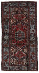 Hamadan Matto 104X196 Itämainen Käsinsolmittu Musta (Villa, Persia/Iran)