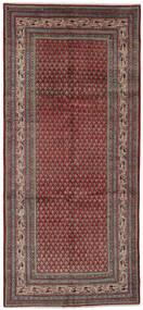 Sarough Mir Matto 153X337 Itämainen Käsinsolmittu Käytävämatto Tummanruskea/Musta (Villa, Persia/Iran)