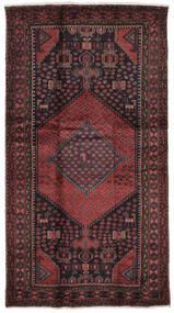 Hamadan Matto 104X200 Itämainen Käsinsolmittu Musta/Tummanruskea (Villa, Persia/Iran)