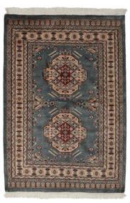 Pakistan Bokhara 2Ply Matto 130X190 Itämainen Käsinsolmittu Musta/Tummanruskea (Villa, Pakistan)